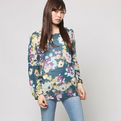 【アウトレット】ゲス GUESS L/S REMY POPOVER (FIELD OF FLOWERS REFLECTING POND)
