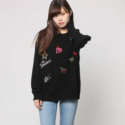 ゲス GUESS PULLOVER SWEATER (BLACK)