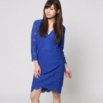 【アウトレット】ゲス GUESS 3QUARTER SLEEVE LYNA LACE DRESS (ELECTRIC BLUE)
