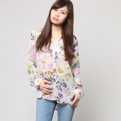 【アウトレット】ゲス GUESS DYLAN FLORAL SHIRT (FIELD OF FLOWERS ORCHID)
