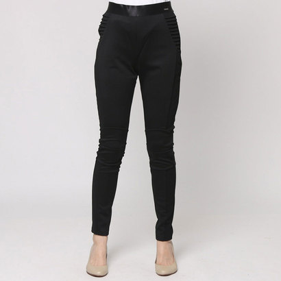 【アウトレット】ゲス GUESS FREDA BIKER LEGGINGS(JET BLACK W/ FROST GREY)
