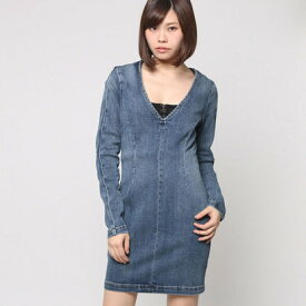 【アウトレット】ゲス GUESS BODYCON DENIM DRESS (DARK MEDIUM WASH)