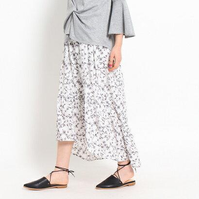 オゾック OZOC 花柄マーメイドスカート (オフホワイト)