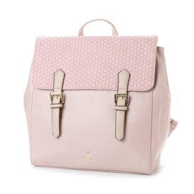 【アウトレット】リトルアクセサリーズ LITTLE accessories メッシュ調かぶせのスクエアリュック (ピンク)