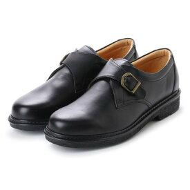 リナシャンテ バレンチノ Rinescante Valentiano 日本製本革ビジネスシューズ シングルモンクタイプ (ブラック)