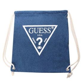 ゲス GUESS Originals WHITE TRIANGLE LOGO DENIM KNAPSACK (MEDIUM BLUE)【JAPAN EXCLUSIVE ITEM】(ゲス オリジナルス