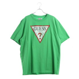 148ce4d94a69 ゲス GUESS Originals S/S CLASSIC TRIANGLE LOGO TEE (GREEN)【JAPAN EXCLUSIVE