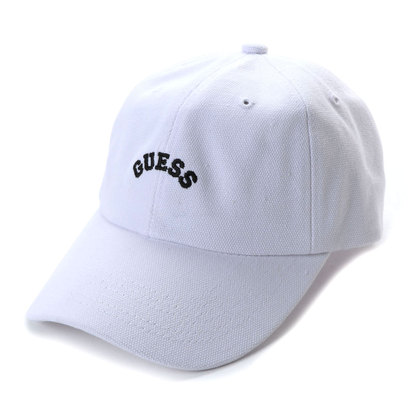 ゲス GUESS Originals ARCH LOGO CANVAS 6PANEL CAP (WHITE)【JAPAN EXCLUSIVE ITEM】