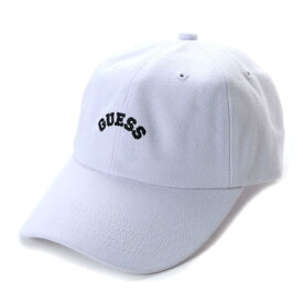 【アウトレット】ゲス GUESS Originals ARCH LOGO CANVAS 6PANEL CAP (WHITE)【JAPAN EXCLUSIVE ITEM】