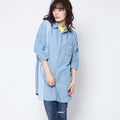 ゲス GUESS Originals DENIM LONG SHIRT (LIGHT BLUE)【JAPAN EXCLUSIVE ITEM】