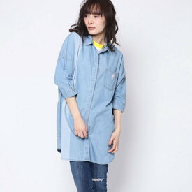 ゲス GUESS Originals DENIM LONG SHIRT (LIGHT BLUE)【JAPAN EXCLUSIVE ITEM】