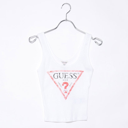 ゲス GUESS Originals CLASSIC LOGO TANK TOP (WHITE)【JAPAN EXCLUSIVE ITEM】