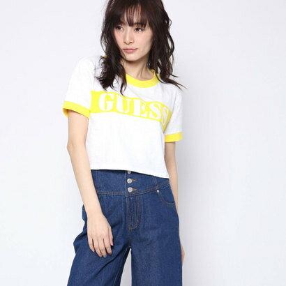 ゲス GUESS Originals S/S RINGER CROP TEE (YELLOW)【JAPAN EXCLUSIVE ITEM】