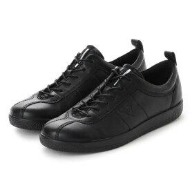 エコー ECCO Womens Soft 1 Sneaker (BLACK)