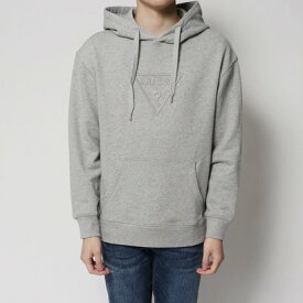 【アウトレット】ゲス GUESS EMBROIDERY TRIANGLE LOGO PULLOVER PARKA (MELANGE GREY)