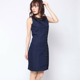 【アウトレット】ゲス GUESS TIA CORSET DENIM DRESS (SMOOTH ME)
