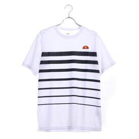【アウトレット】エレッセ ellesse テニス 半袖 Tシャツ SSプラクティスボーダークルー EM08105