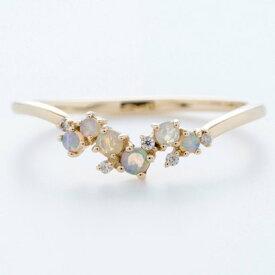 ソーイ sowi 【K10】オパール&ダイヤモンド リング (ホワイト)