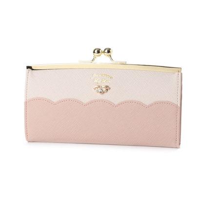 プリムヴェールリズリサ Primevere LIZ LISA サボン 配色スカラップがま口長財布 (ピンク)