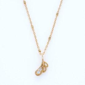 ソーイ sowi 【K10・ダイヤモンド】幸せを運ぶもの鳥の羽ネックレス (ゴールド)