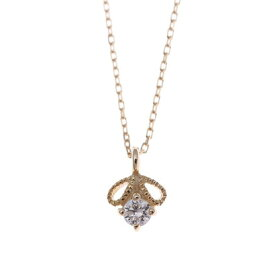 ソーイ sowi 【K10・ダイヤモンド】幸せを運ぶもの 蜂 ネックレス (ゴールド)