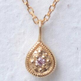 ソーイ sowi 【K18・ダイヤモンド】12の宝石のしずくたち 4月ピンクダイヤモンド (ピンク)