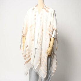 エコー ニューヨーク echo NEW YORK EO0017Bay Stripe Yarn Dye Ruana (White)