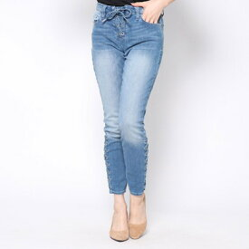 ゲス GUESS SEXY CURVE LACE-UP SKINNY DENIM PANT (MEDIUM WASH)
