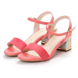 バニティービューティー VANITY BEAUTY カラーブロックヒールサンダル (ピンク)