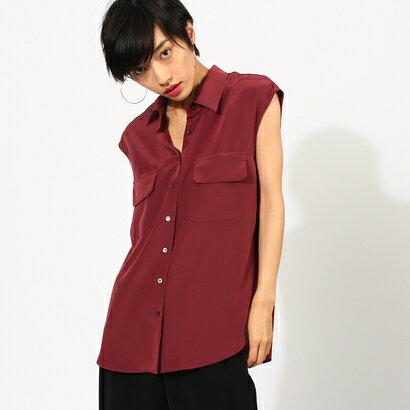 【アウトレット】アクアガール aquagirl フラップポケットシャツ (ボルドー)
