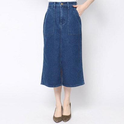 イーブス サプライ YEVS supply LEEベイカースリットスカート(USED) (ブルー)