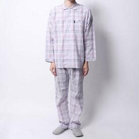【アウトレット】ランバン コレクション LANVIN COLLECTION サテンチェックパジャマ (ピンク)