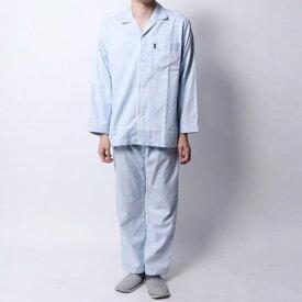 【アウトレット】ランバン コレクション LANVIN COLLECTION ドビームジ9分パンツパジャマ (ブルー)