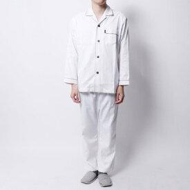 【アウトレット】ランバン コレクション LANVIN COLLECTION ドビームジ9分パンツパジャマ (ホワイト)