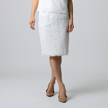 アンタイトル UNTITLED [L]コードレーススカート (オフホワイト)