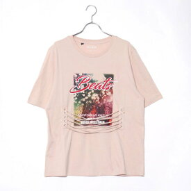 【アウトレット】ゲス GUESS DOWNTOWN LACE-UP TEE (BEIGE)