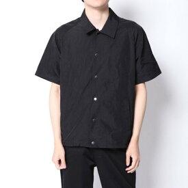 【アウトレット】イーブス サプライ YEVS supply ナイロンコーチJK風シャツ (ブラック)
