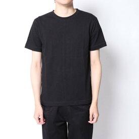【アウトレット】イーブス サプライ YEVS supply 変形ステッチ半袖Tシャツ (ブラック)