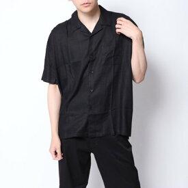 イーブス サプライ YEVS supply オープンカラーシャツ (ブラック)