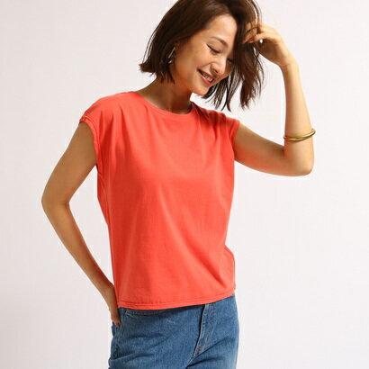 アクアガール aquagirl 【洗える】フレンチスリーブスクエアTシャツ (オレンジ)