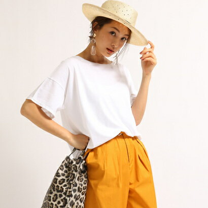 アクアガール aquagirl 【洗える】ゆるシルエットコットンTシャツ (ホワイト)