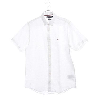 トミーヒルフィガー TOMMY HILFIGER リネンボタンダウンシャツ (ホワイト)