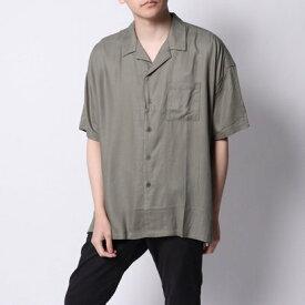 イーブス サプライ YEVS supply オープンカラーシャツ (カーキー)