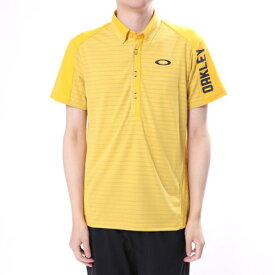 【アウトレット】オークリー OAKLEY メンズ ゴルフ 半袖 シャツ Bark Shadow Border Shirts 434188JP