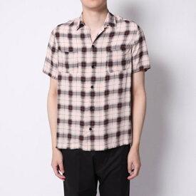 【アウトレット】イーブス サプライ YEVS supply 開襟チェックシャツ (ベージュ)