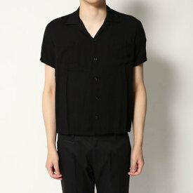 【アウトレット】イーブス サプライ YEVS supply 開襟レーヨンシャツ (ブラック)