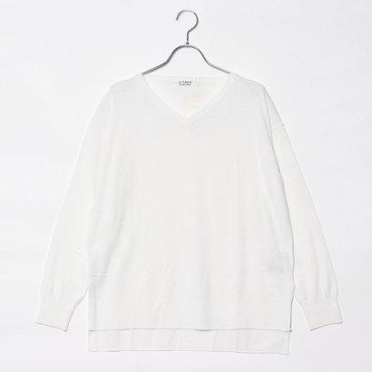 【アウトレット】ドレステリア DRESSTERIOR コットンVネックプルオーバー (ホワイト)
