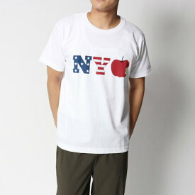 【アウトレット】イーブス サプライ YEVS supply リンゴ USA TEE (ホワイト)