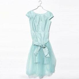 【アウトレット】ジュネビビアン Genet Vivien 2WAYシフォン巻きスカートドレス (ミントグリーン)