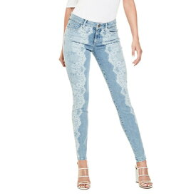 【アウトレット】ゲス GUESS SEXY CURVE BLEACHED LACE DENIM PANT (LIGHT WASH)
